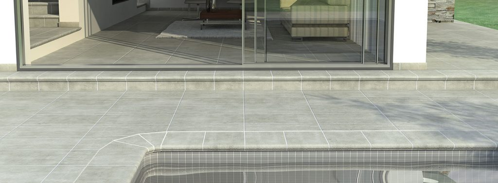 Anti-slip porcelain tiles