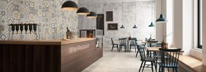 Glazed porcelain patchwork tiles
