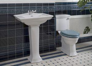 Blue Period Embossed Bathroom Tiles