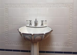Period Embossed Sink Surround