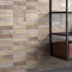 Wall Detail in Beige Vari-Brick Tiles