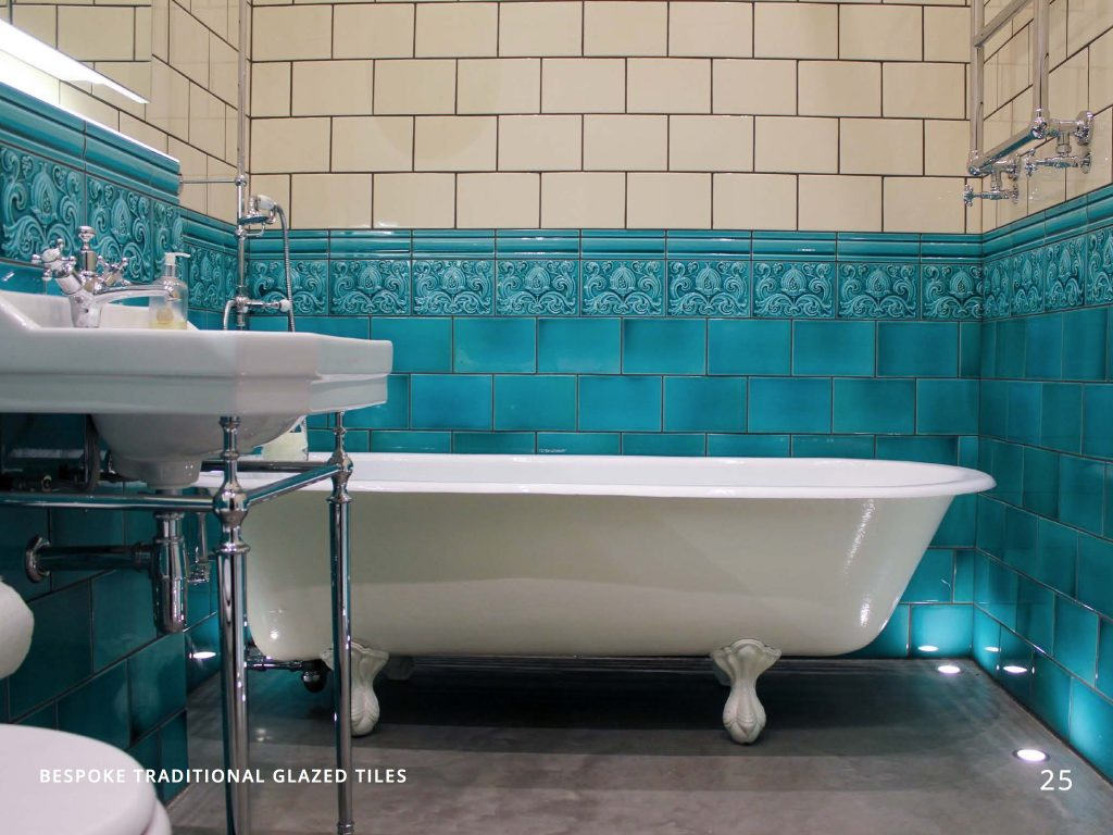 Period Embossed Victorian Tiles | H & E Smith Ltd, Hanley, Stoke-on on classic bathroom tile, victorian floor tiles, octagon mosaic floor tile, french blue and white tile, bathrooms with beadboard and tile,