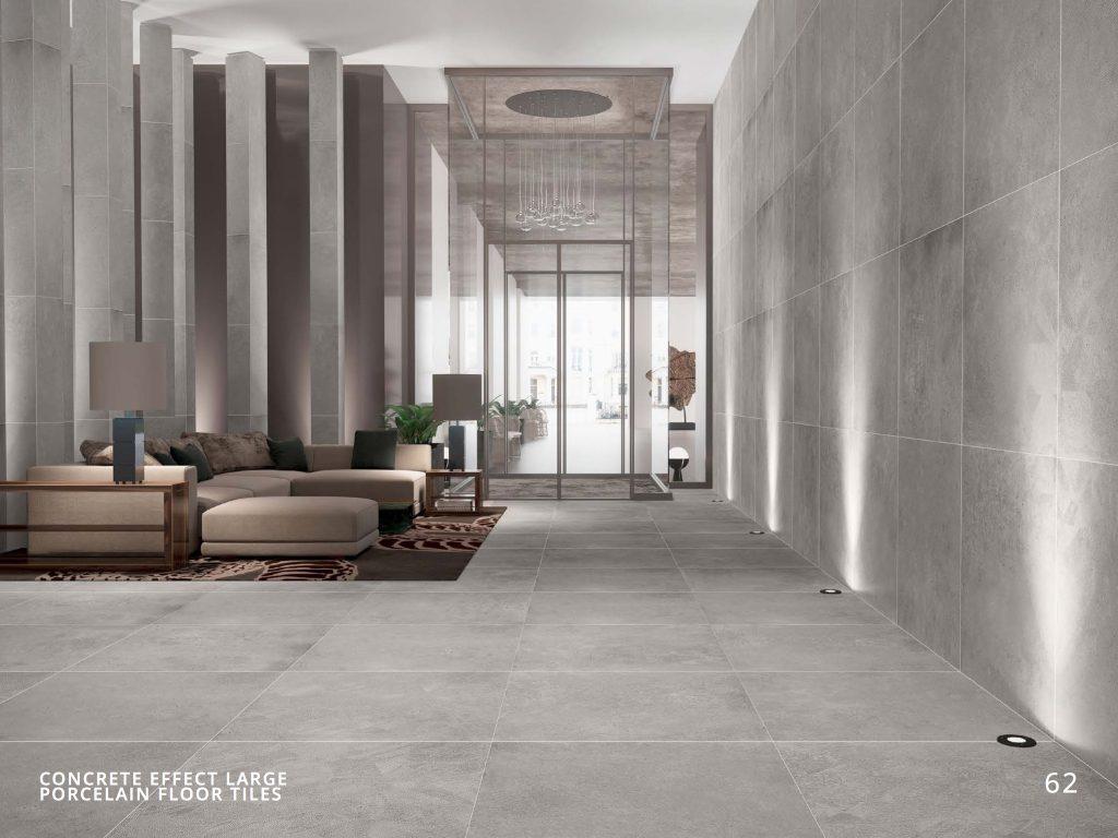 Concrete Effect Large Porcelain Floor Tiles H Amp E Smith