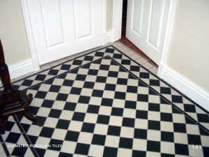 Black and White Victorian Hallway Tiles