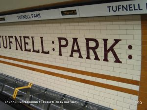 LONDON UNDERGROUND TILES SUPPLIED BY H&E SMITH