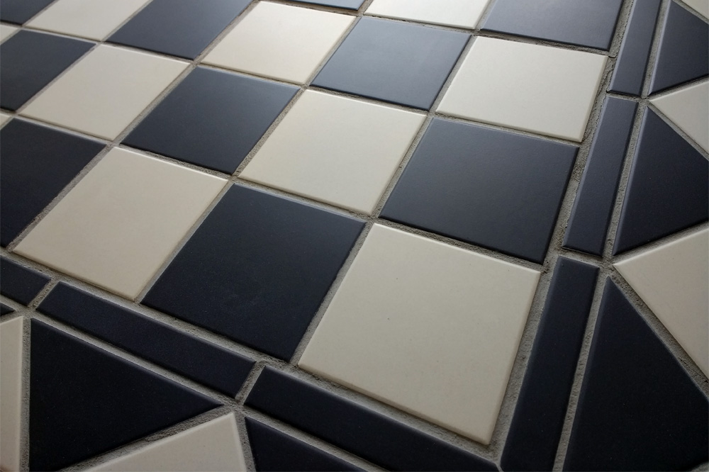 Black and White Chequered Floor Tiles