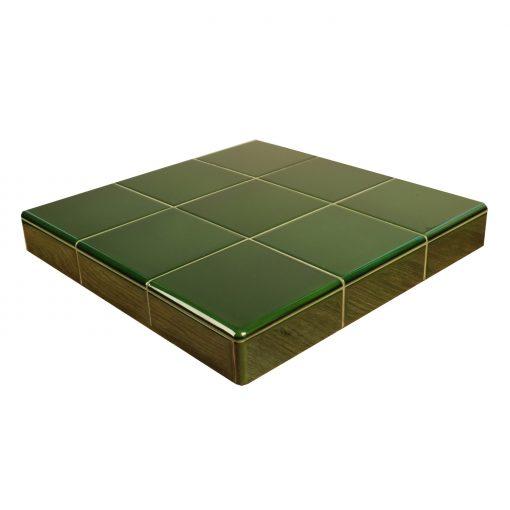 Victorian Green Ceramic Fireplace Tiles