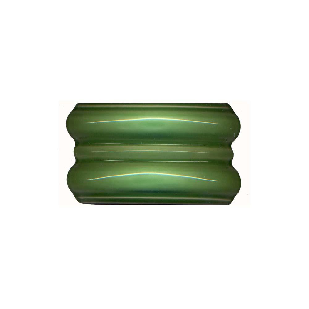 6x3 Double Fluted Radiussed Corner Light Green Tile H
