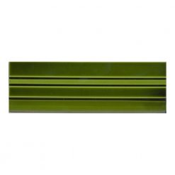 9x3 Skirting Victorian Green Underground Tile