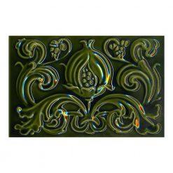9x6 Pomegranate Victorian Green Underground Tile