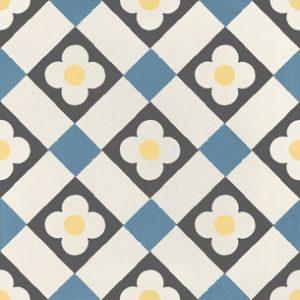 Calais Cafe Blue Tile