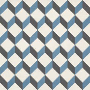 Calais Cube Blue Tile