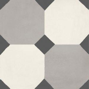 Calais Octagon Black Tile