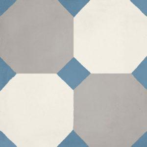 Calais Octagon Blue Tile